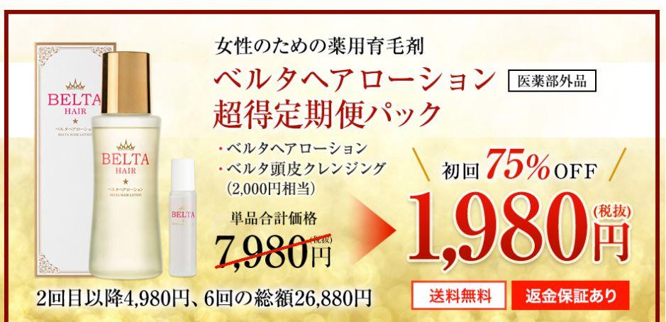 ベルタ育毛剤・初回1,980円キャンペーン情報