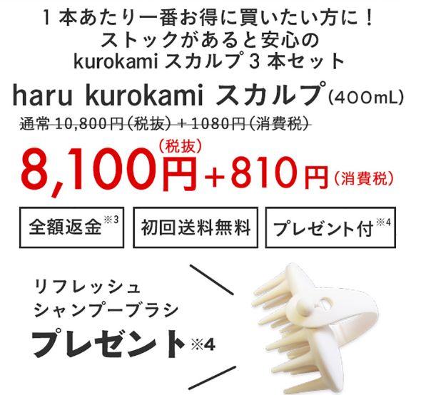 3本セット【25%オフ+返金保証+プレゼント付】