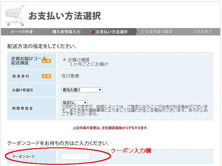 カミカシャンプーのクーポンコードは現在なし・カミカシャンプー注文画面