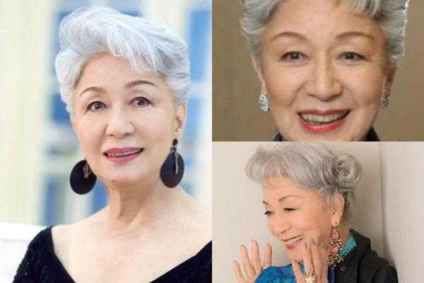 グレイヘアが似合う女性有名・芸能人【日本】・草笛光子