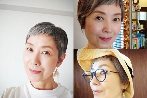 グレイヘアが似合う女性有名・芸能人【日本】・手塚理美