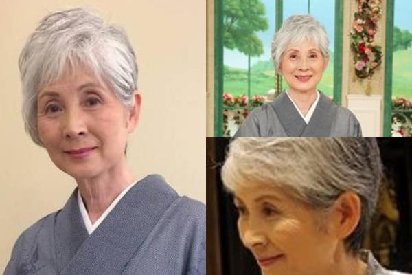 グレイヘアが似合う女性有名・芸能人【日本】・島かおり