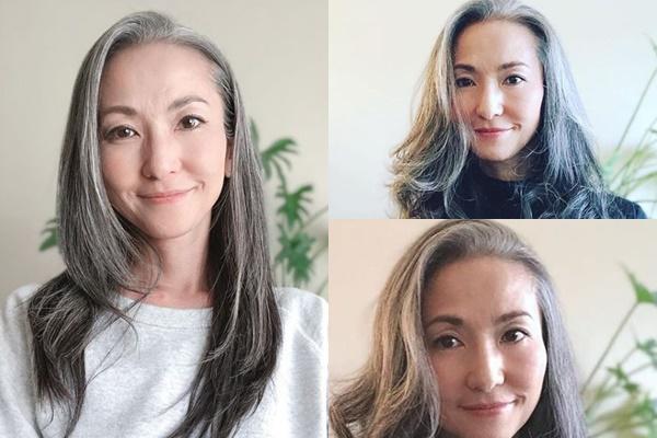 グレイヘアが似合う女性有名・芸能人【日本】・宮原巻由子