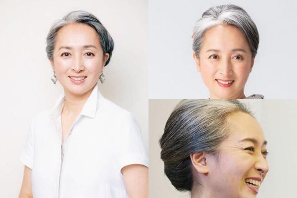 グレイヘアが似合う女性有名・芸能人【日本】・近藤サト