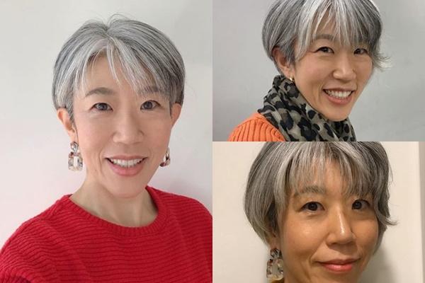グレイヘアが似合う女性有名・芸能人【日本】・朝倉真弓